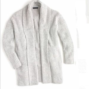 J crew rib knit open cardigan, small medium, NWT